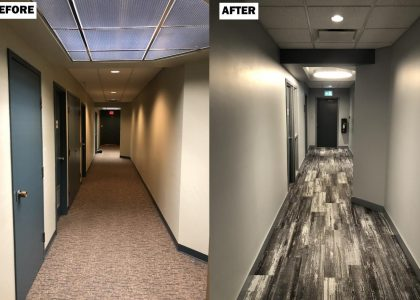 Before and After - Hallway