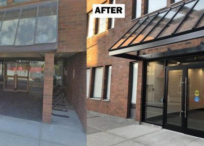 Before and After - Lobby Exterior